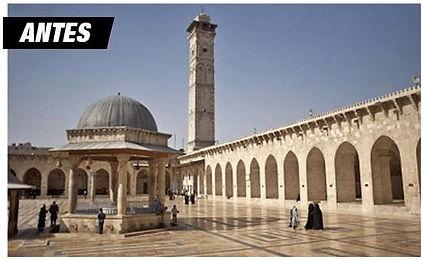 antes e depois guerra siria