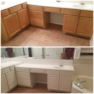 Bathroom cabinets Before and After.JPG