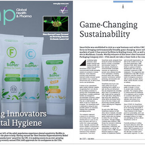 SMARTSOLVE AWARDED BEST SUSTAINABLE AND WATER-SOLUBLE PACKAGING COMPANY 2021 BY GHP MAGAZINE