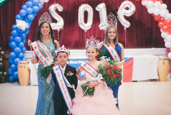 On behalf of the Puerto Rican Parade of Fairfield County, Inc. We Would Like To Congratulate Our 2019 Pageant Winners!!											     Little Mr & Miss Puerto Rico: Alexander George Leite & Isabella Rios				     Miss Teen Puerto Rico: Angelimarie Nieves 							     Miss Puerto Rico: Miranda Rios 						            Congratulations to you all!