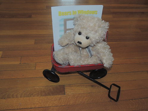 "Oak 15"" Teddy Bear with Book - SALE"