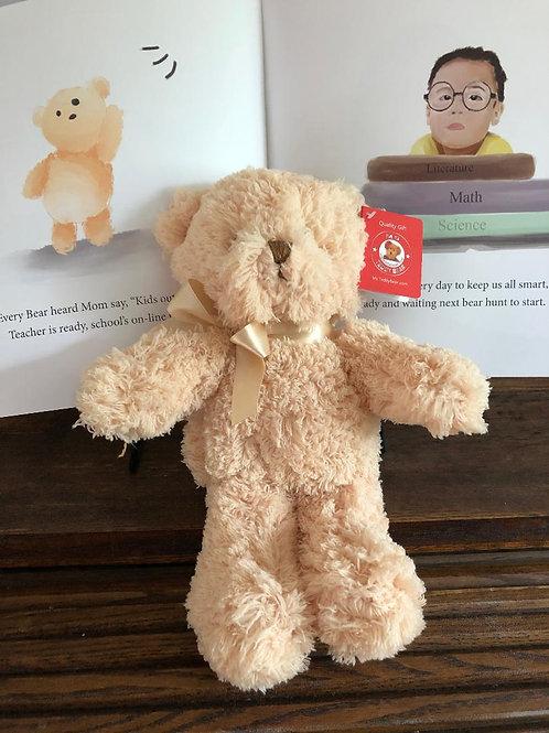 "10"" Cream Teddy Bear & Book - SAVE"