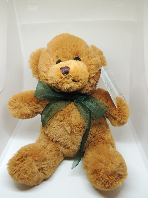 "Brown 8"" bear with button eyes"