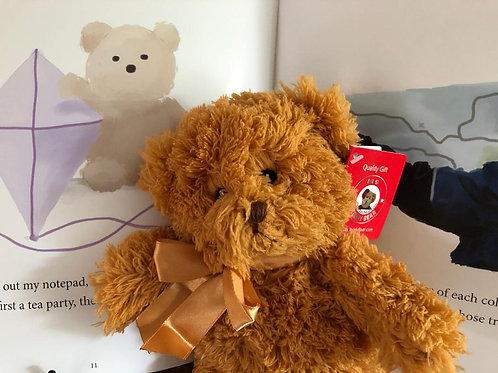 """10"""" Carmel Teddy Bear with Book - SAVE"""