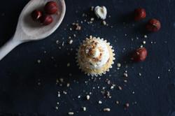 Cupcake vanille caramel pralin