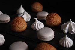 Choux craquelin Meringues Macarons