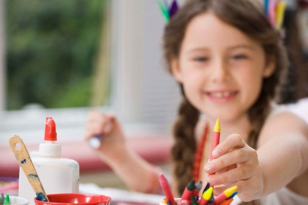 девочка, творчество, рисование, поделки