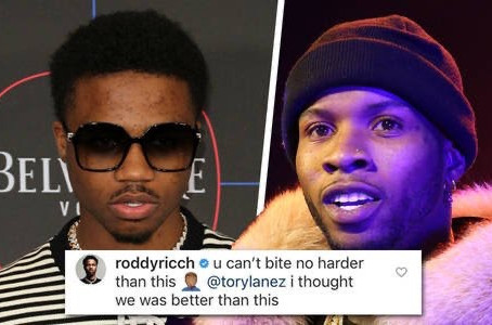 Roddy Rich called out Tory Lanez!