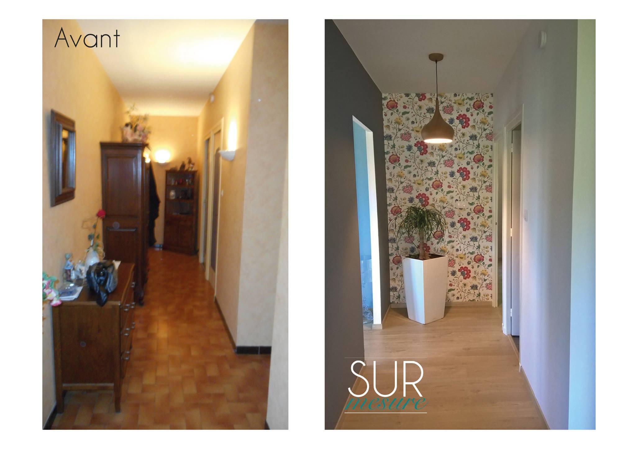Le couloir avant/après