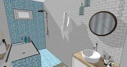 3D de la future salle de bains