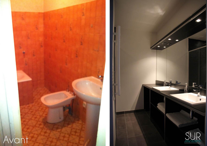 La salle de bains avant/après