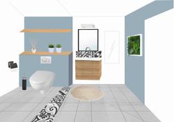 Planche d'ambiance des toilettes 2