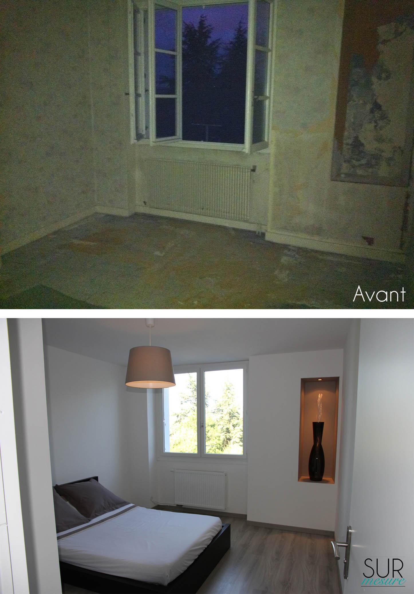 La chambre avant/après