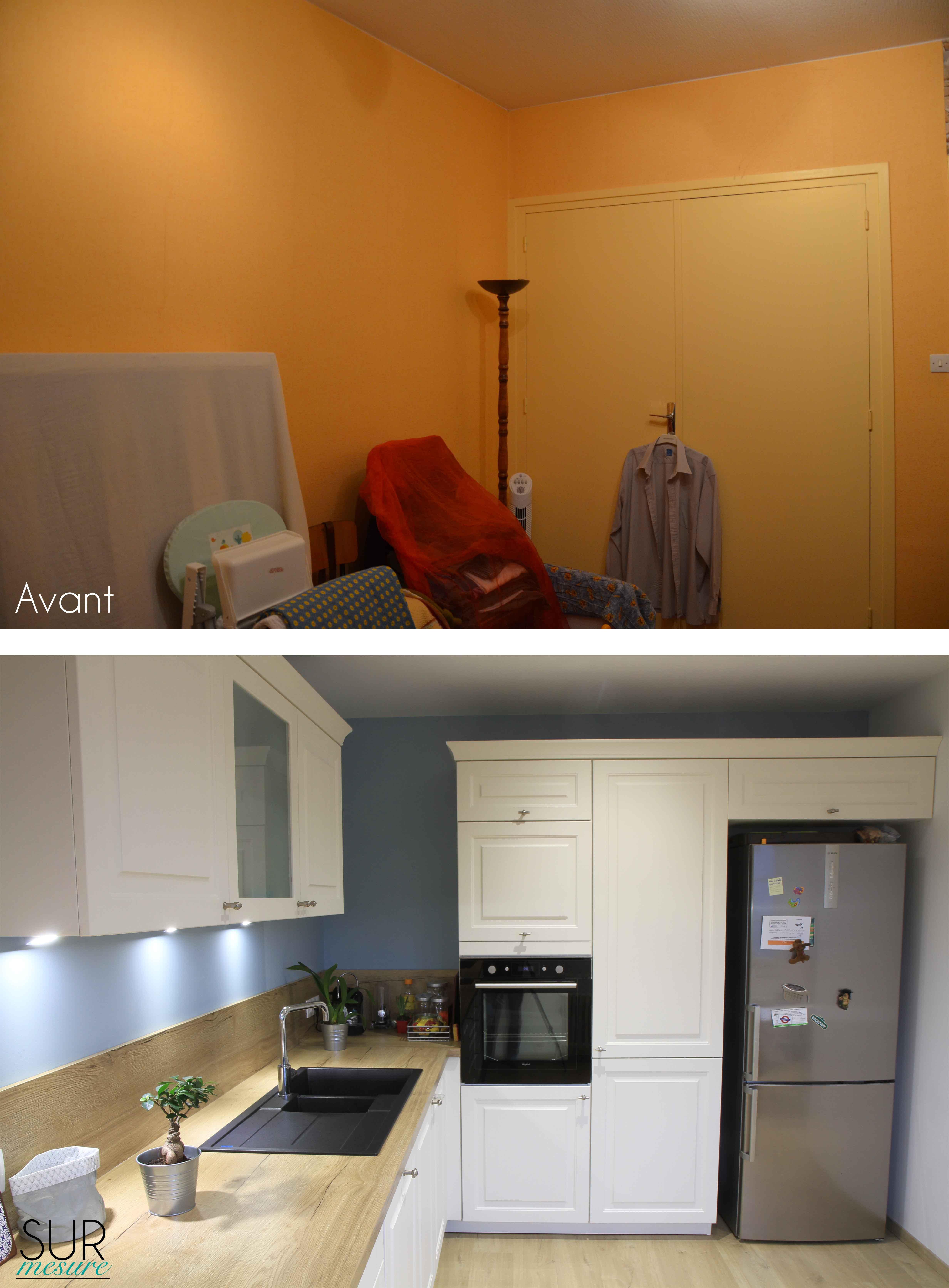 La cuisine avant/après