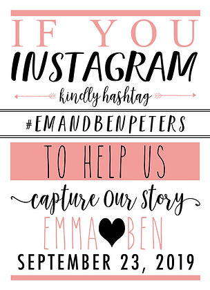 Instagram Sign - Personalized