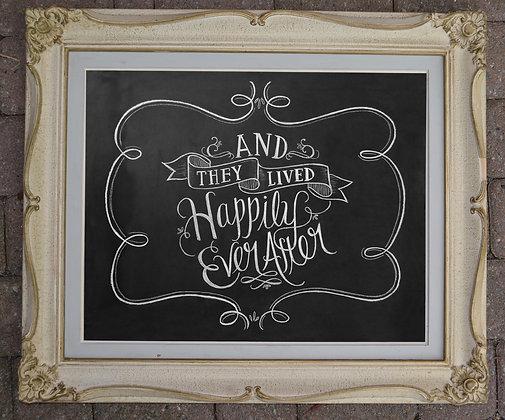 Chalkboard - Ivory Decorative Frame