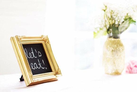 Chalkboard - Small Square Gold