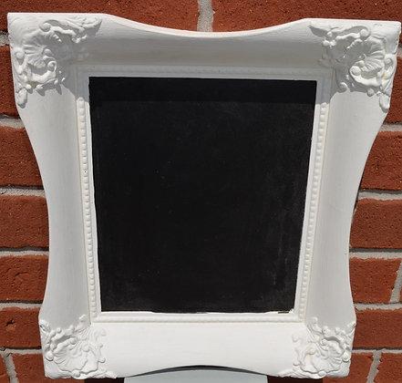 Chalkboard, White Vintage Frame