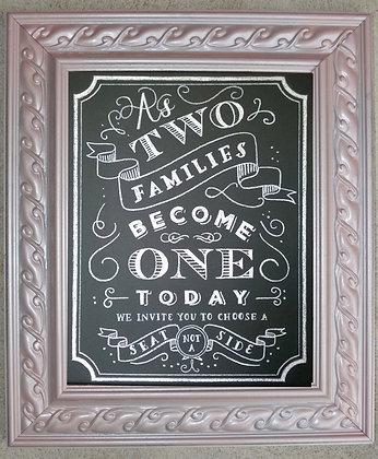 Chalkboard - Champagne Pink Frame