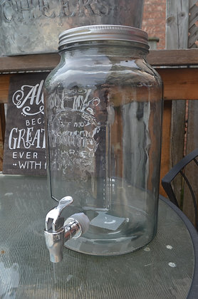 Mason Jar Style Beverage Dispencer