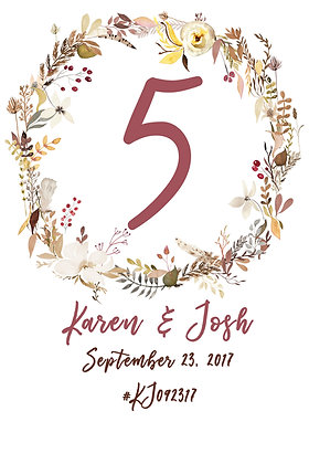 Custom Table Number - Personalized