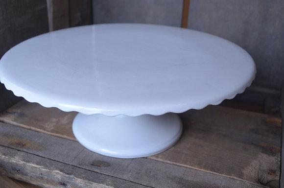 White Cake Plate - Flat Top