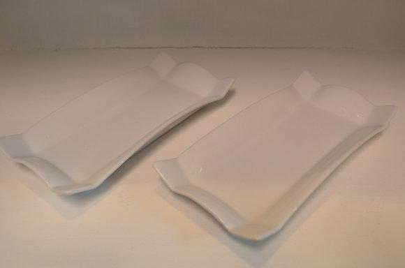 White Twin Trays