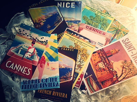 "French Riviera""Post Cards"""