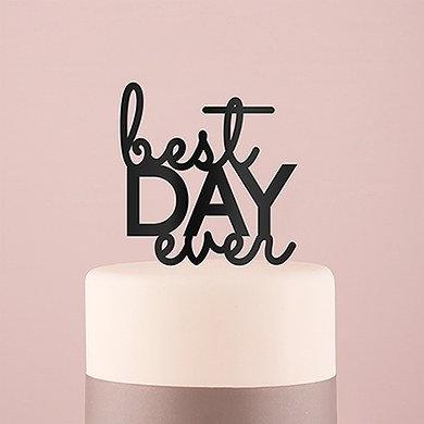 """Best Day Ever"" Cake Topper - Black"