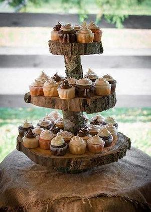 Rustic Cupcake Stand
