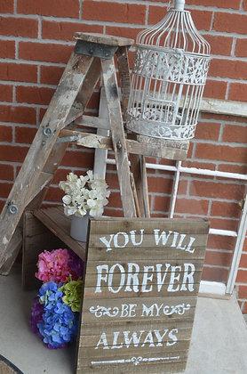 Ladder, Wood with shelf