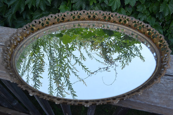 Mirrored Tray - Oval