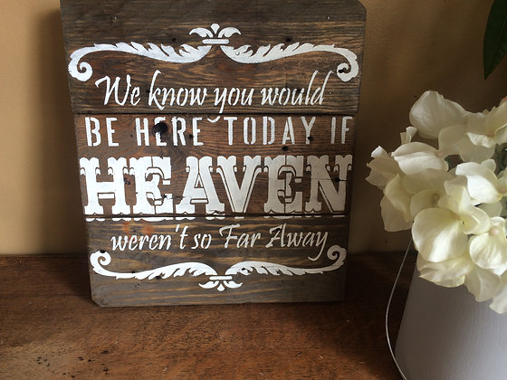 Heaven Reclaimed Wood Sign