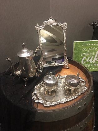 Table Top Silver Mirror
