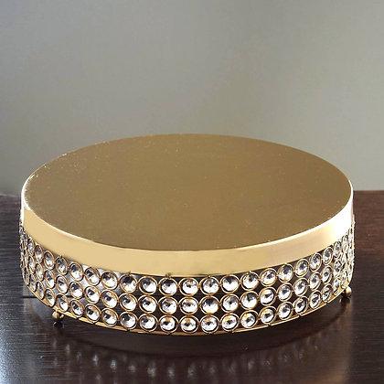 Jeweled Cake Stand - Gold