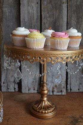 Jewelled Cake Plate, Tall