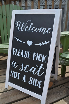 Sandwich Board Welcome Sign