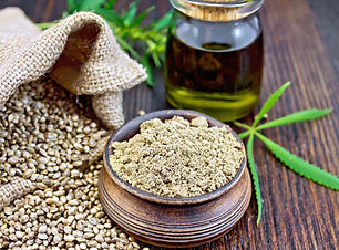 flour-hemp-in-bowl-with-oil-on-dark-boar