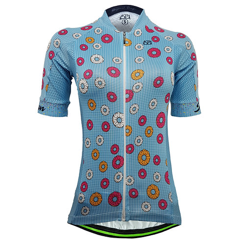 80.Jersey Performance 2.0 donuts Azul MUJER