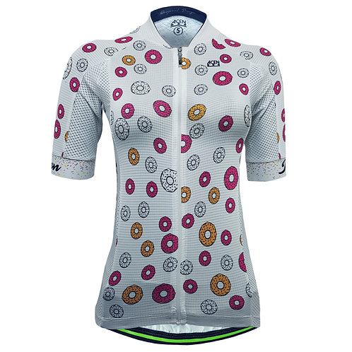 80.Jersey Performance 2.0 donuts Blanco MUJER