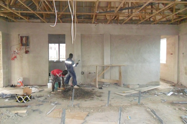 Finishing Inside Classroom Building