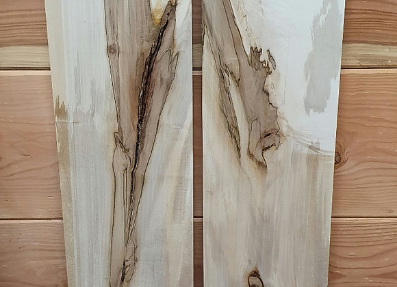 Characterful grain Sycamore offcuts x2