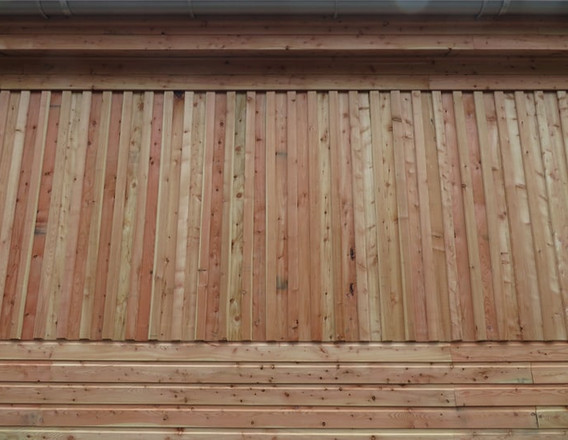 Vertical and horizontal cladding