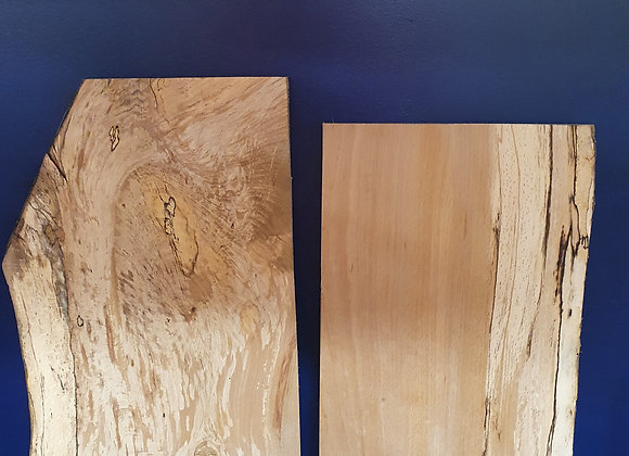Spalted Beech offcuts x2