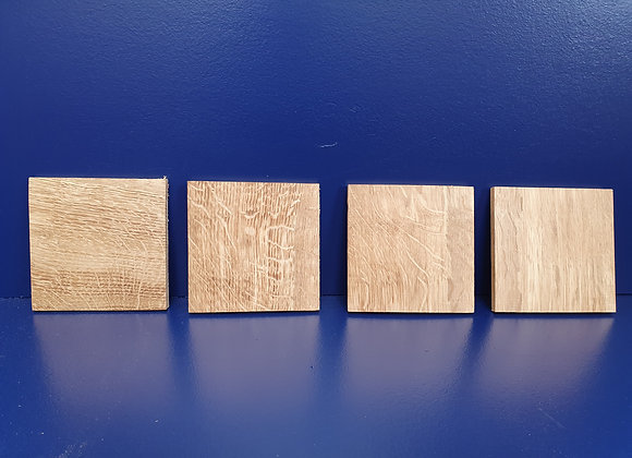 Kiln dried Oak Coasters x 4