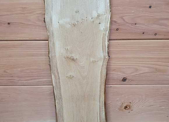 Natural edge Pippy Scottish Oak