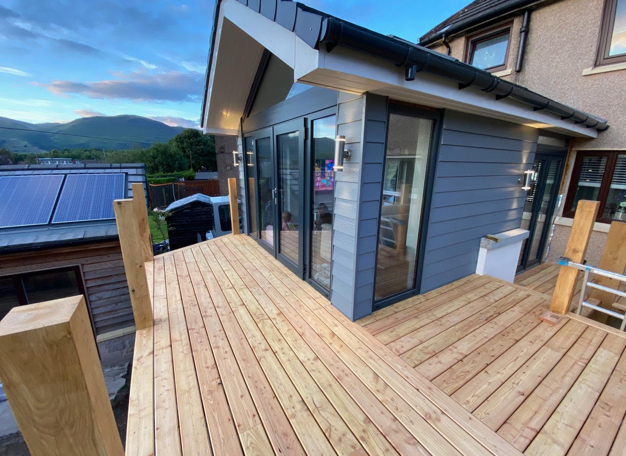 Customer order of our Naturally duarble Scottish Larch decking
