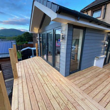 Naturally durable Scottish Larch decking