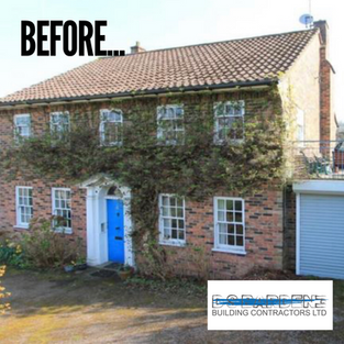 Before photo of extension to a property