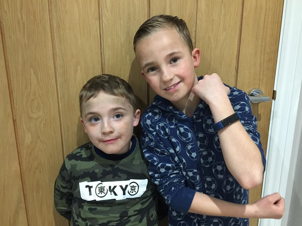 Harrison and Connor Crawford, brothers supporting each other on a mission to end Duchenne.